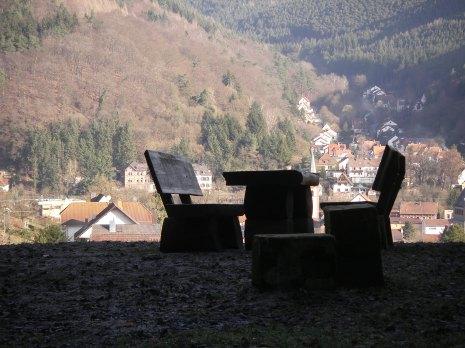 Einer der Rastplätze auf der Tour in der Pfalz
