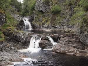 Wasserfall zwischen Blair Atholl und Aviemore