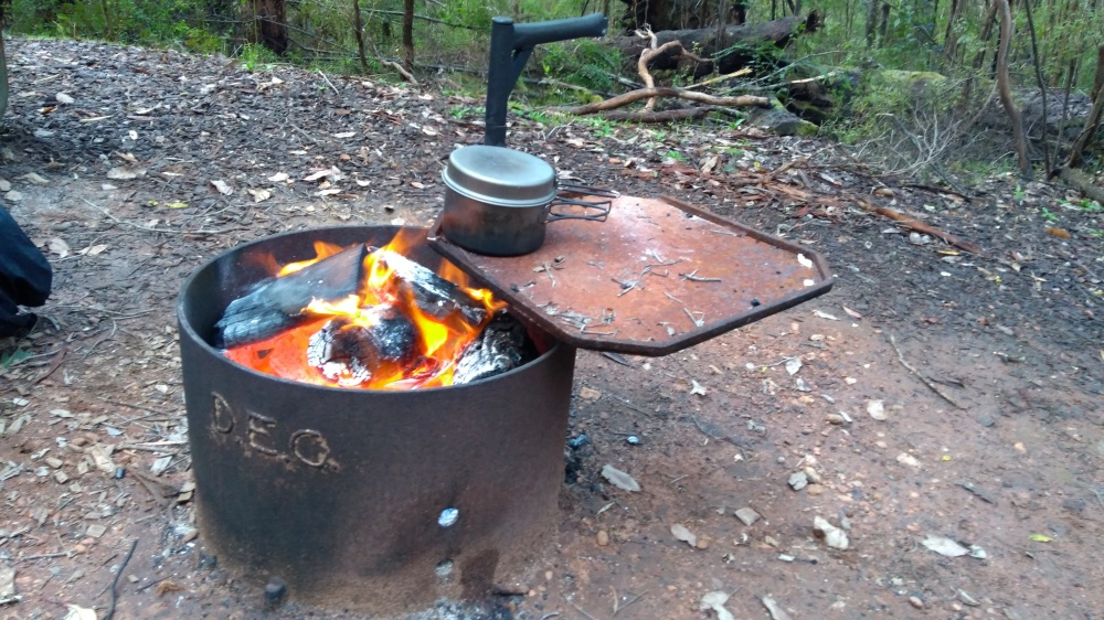 Feuerstelle auf dem Bibbulmun