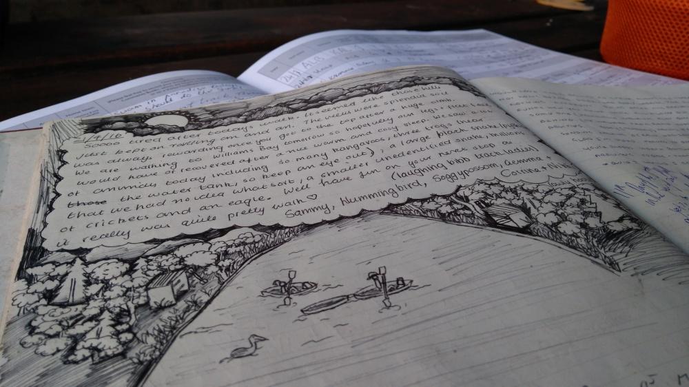 Logbücher auf dem Bibbulmun